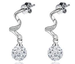 Damen Ohrhänger Lange Ohrringe 925 Silber Ohrringe Mode Ohrschmuck