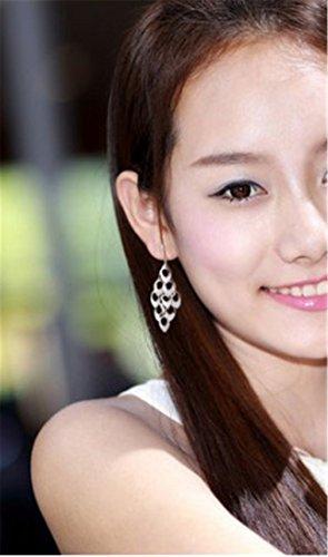 Damen Ohrhänger Lange Ohrringe 925 Silber Ohrringe Ohrschmuck