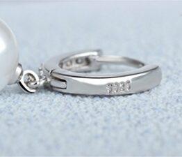 Creolen Zirkon Klassik Ohrringe 925 Sterling Silber Perle Ohrring Ohrschmuck Elegante Ohrringe Ohrhänger