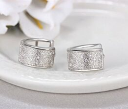 Unisex Creolen AAA Zirkon Klassik Ohrringe 925 Sterling Silber Ohrring Ohrschmuck