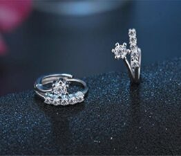 Creolen Zirkon Klassik Ohrringe 925 Sterling Silber Ohrring Ohrschmuck Elegante Ohrring Geschenk für Damen Mädchen Kinder