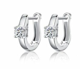 Creolen Zirkon Klassik Ohrringe 925 Sterling Silber Ohrring Ohrschmuck Elegante Ohrringe Geschenk für Damen Mädchen Kinder