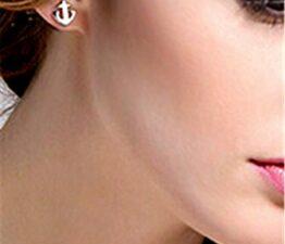 Ohrringe Damen Mädchen 925 Sterling Silber Anker Ohrstecker
