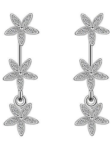 Damen 925 Sterling Silber Sterne Ohrringe Ohrstecker Ohrhänger