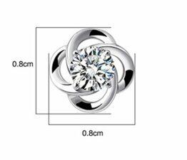 Damen Ohrringe Ohrstecker 925 Sterling Silber Blumen Diamant-Schmuck