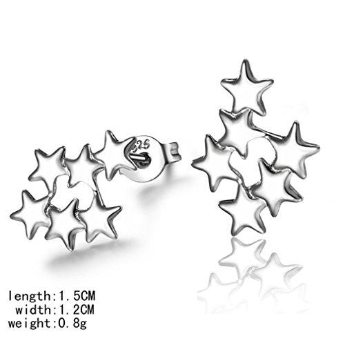 Ohrringe Hänger Damen Mädchen 925 Sterling Silber Viele unterschiedlich Sterne Ohrstecker