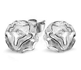 Ohrringe Hänger Damen Mädchen 925 Sterling Silber Rose Blumen ohrstecker