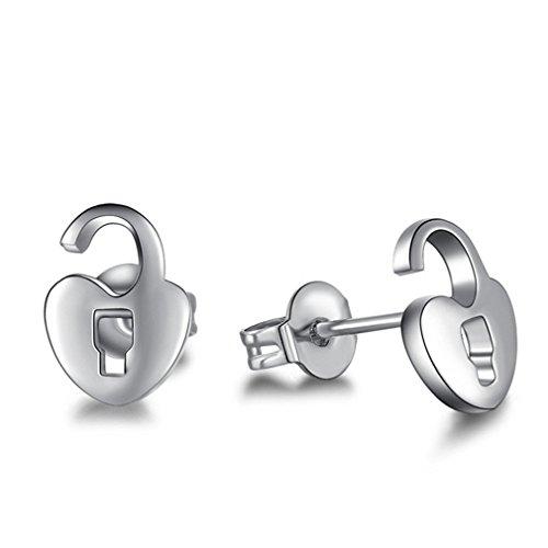 Damen Ohrring 925 Sterling Silber Polierte Hypoallergen Klein Ohrringe Ohrstecker