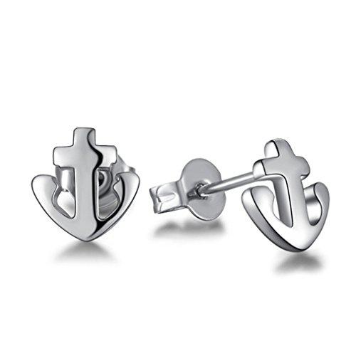 Damen Ohrstecker Anker Ohrringe Ohrringe Ohrschumck 925 Sterling Silber