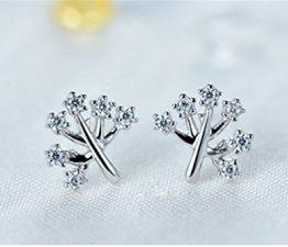 Damen Ohrringe Ohrstecker Schmuck Wunsch Baum Klassischen kristall Ohrringe