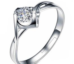 Damen Ringe Öffnung Dopple Hohle Herz Zirkonia Verstellbar 925er Sterling Silber Trauringe Verlobungsringe Memoir-Ringe