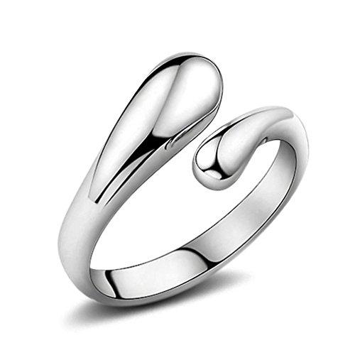 Ringe Damen Verstellbare Eheringe Nagelring Versilbert Freundschaftsringe 925er Sterling Silber Tropfen Knöchel Ringe