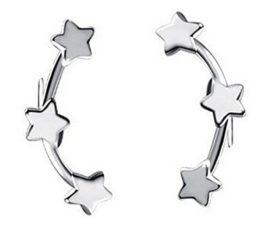 Ohrringe Damen Maedchen Versilber Edel Ohtstecker 3 Sterne
