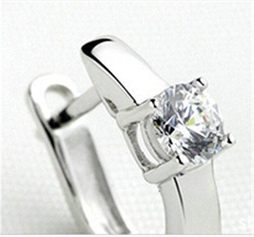 Creole Damen Maedchen 925 Sterling Silber Edel Ohtstecker U-Form