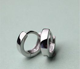 Creolen Damen Herren mädchen 925er Sterling Silber Einfache Hypoallergen Unisex Ohrringe