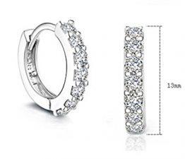 1 Paar Damen Creolen 925er Sterling silber Volle Bling-Bling Zirkon Einfache Stil Ohrringe