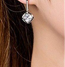 Damen Creolen Ohrhänger Ohrringe Diamant 925 Sterling Silber