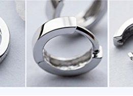 1 Paar Damen Herren Unisex Creolen 925er Sterling silber einfache Stil Ohrringe