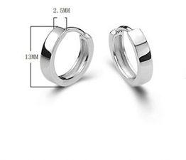 Damen Herren Mädchen Ohrringe Silber 925 Einfache Stil Creolen