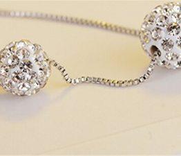 Wunderschöne feine Silberkugeln an zarter Silberkette