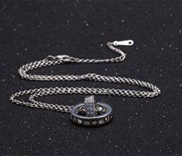 Damen-Kette Halskette mit Anhänger Kristall Runden Herz ein fantastisches Geschenk für Freundin