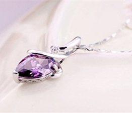Damen-Kette Halskette mit Anhänger Herz Zirkon Diamant Claviclekette Mode Schmuck