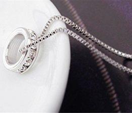 Damen-Kette Halskette mit Anhänger Zirkon Diamant Claviclekette Weibliche Geburtstagsgeschenk
