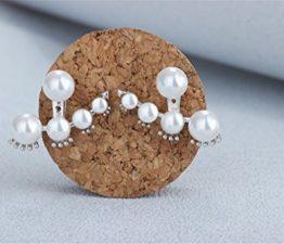 Frauen Ohrringe Ohrstecker Perlen Ohrschmuck aus 925 Sterling Silber