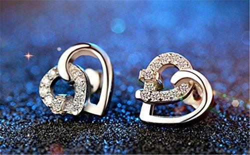 Damen Ohrringe Ohrstecker Schmuck 925 Sterling Silber Ohrschmuck für Freundin