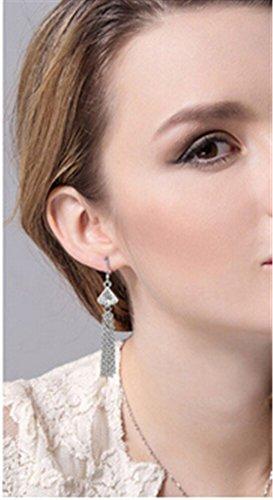 Ohrringe Hänger Damen Mädchen 925 Sterling Silber lang Edel Retro Quaste Böhmen Ohrhänger