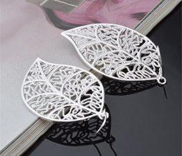 Ohrringe Hänger Damen Mädchen 925 Silber lang Baumblatt Hochzeit Fashion ohrhänger