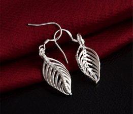 Ohrringe Hänger Damen Mädchen 925 Sterling Silber lang Engelsflügel mit Zirkonia ohrhänger