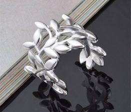 Ringe Damen Eheringe Nagelring 925er Silber Blattform Blumen Knöchel Ringe als Weihnachtsgeschenke Verstellbare